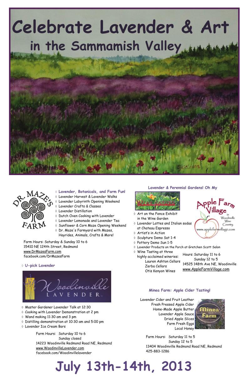 2013 Sammamish Valley Poster Summer