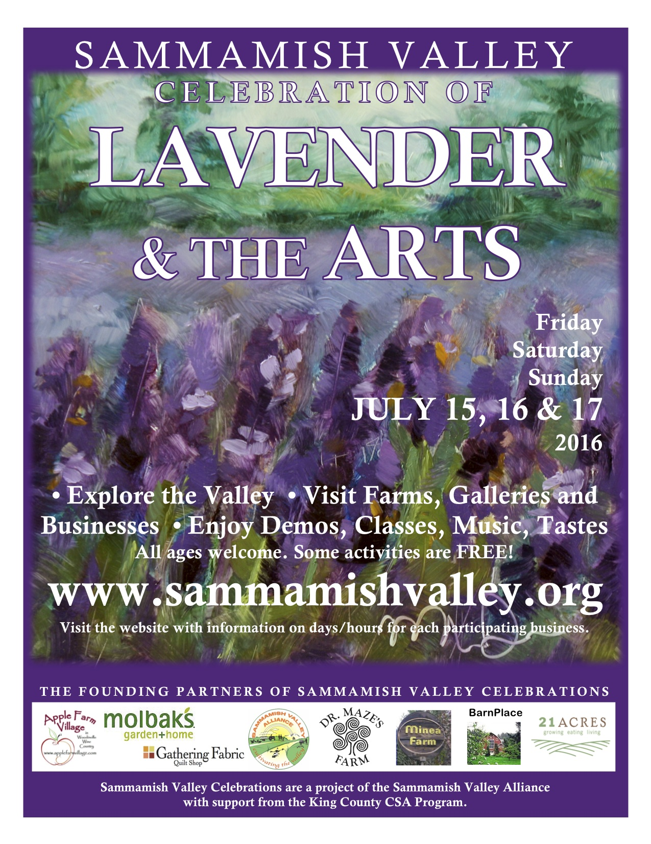 2016 Sammamish Valley Poster Summer