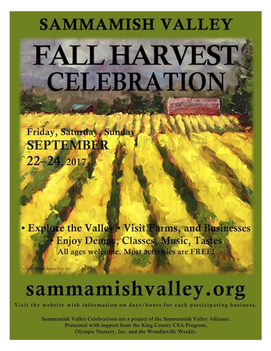 2017 Sammamish Valley Poster Fall