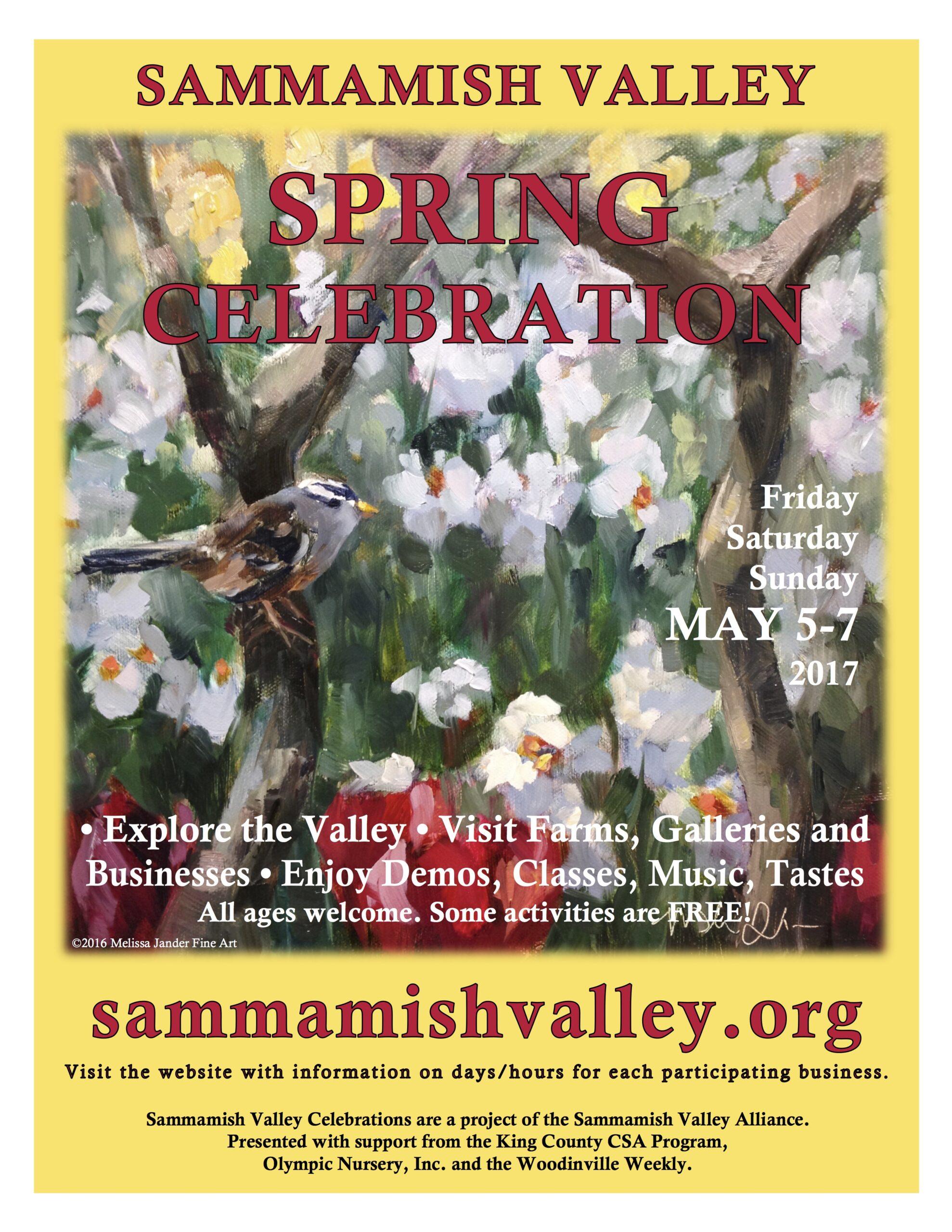 2017 Sammamish Valley Poster Spring