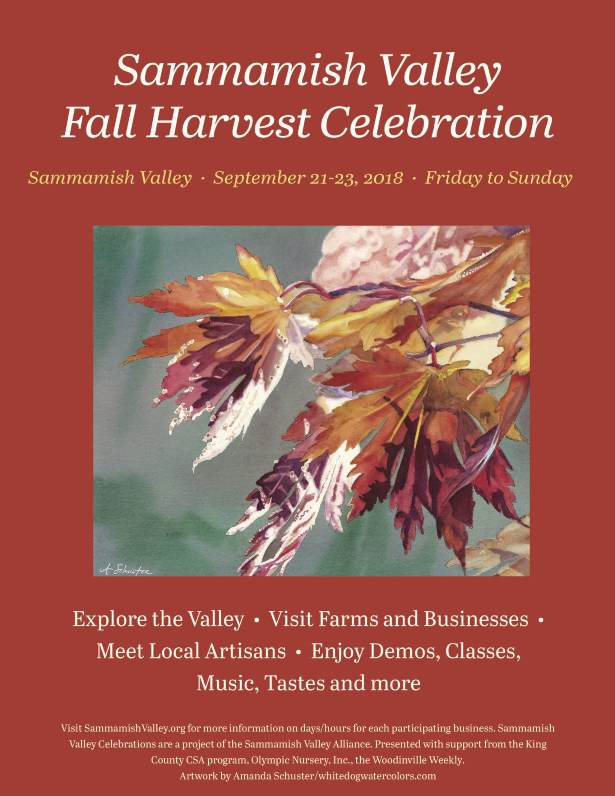 2018 Sammamish Valley Poster Fall Celebration