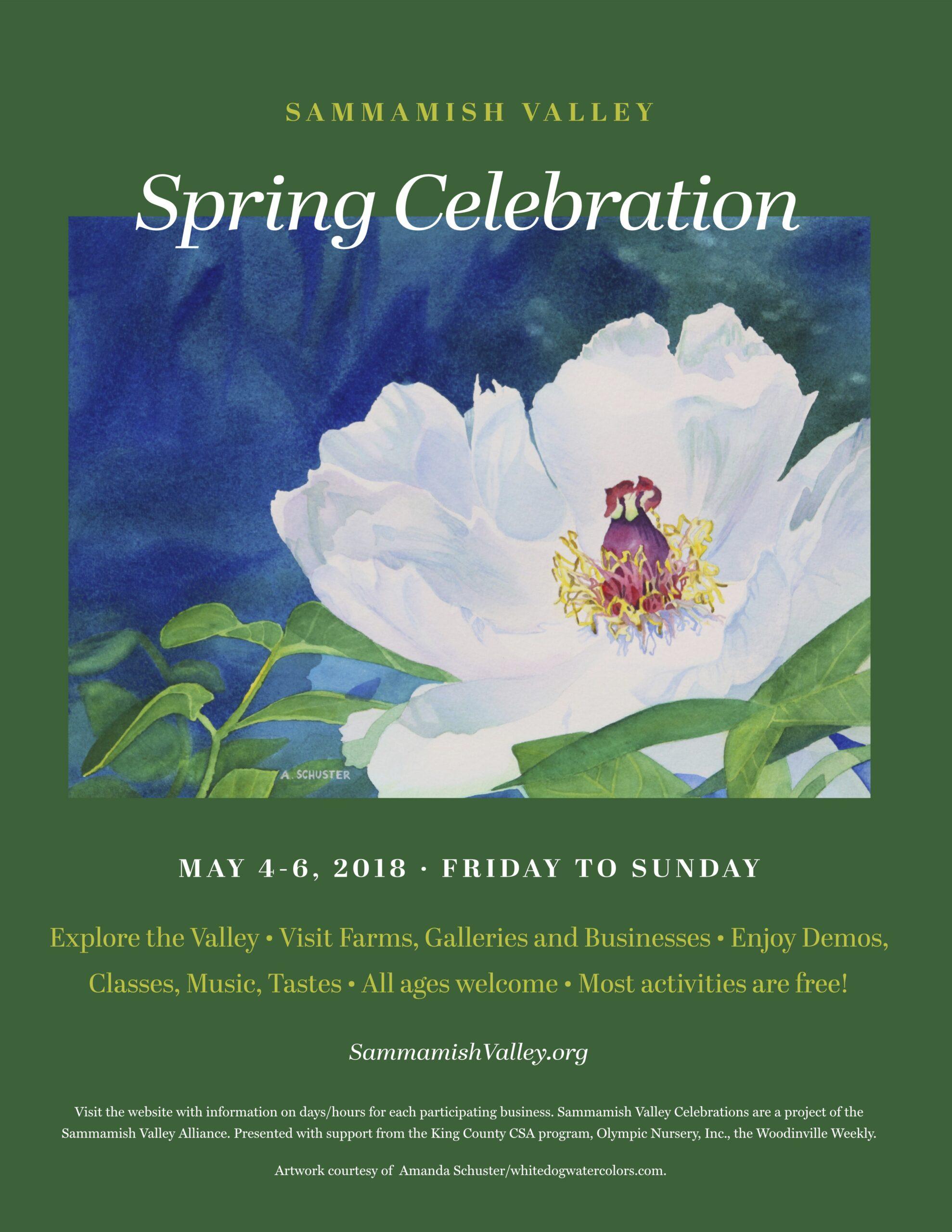 2018 Sammamish Valley Poster Spring