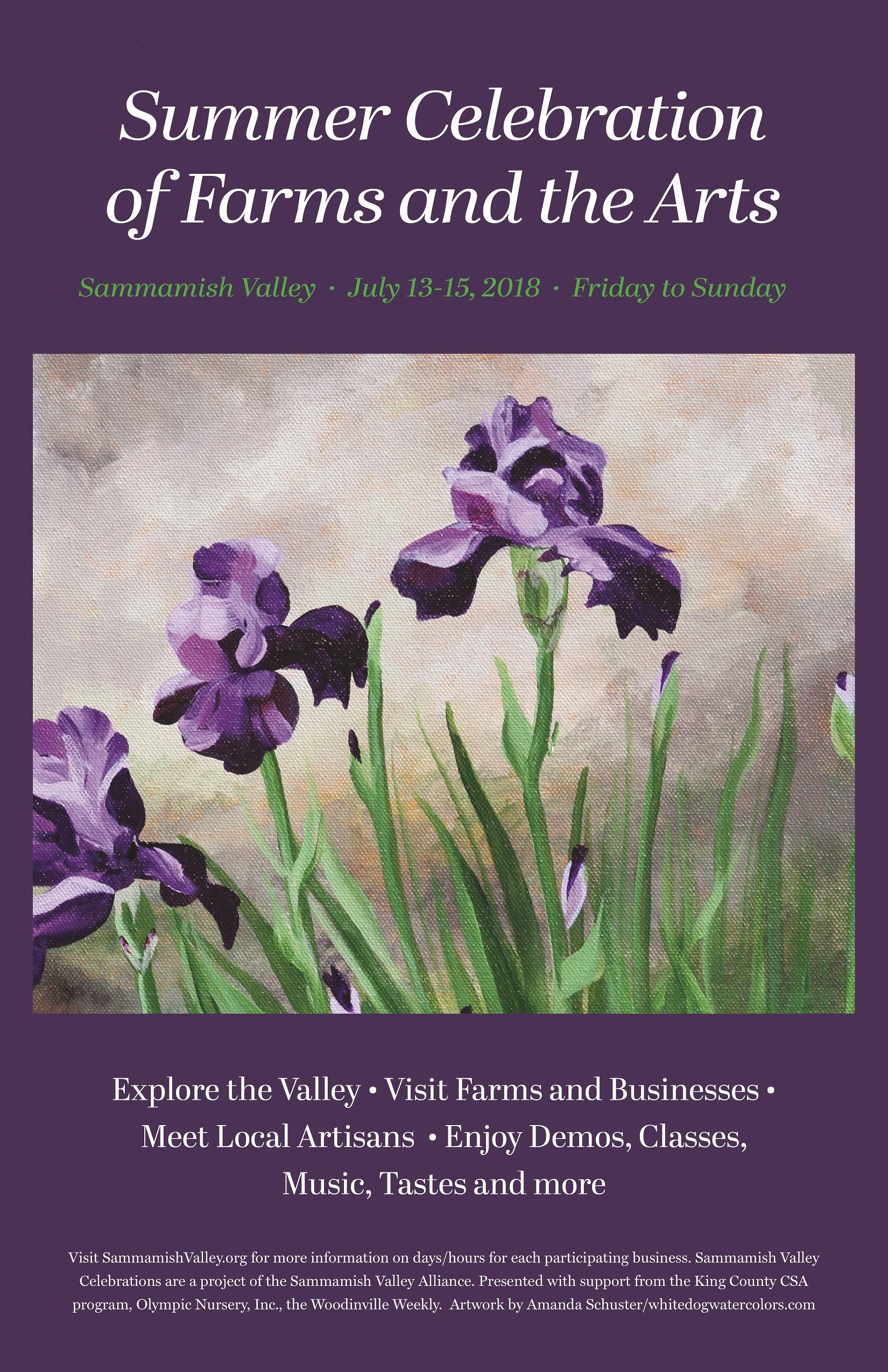2018 Sammamish Valley Poster Summer