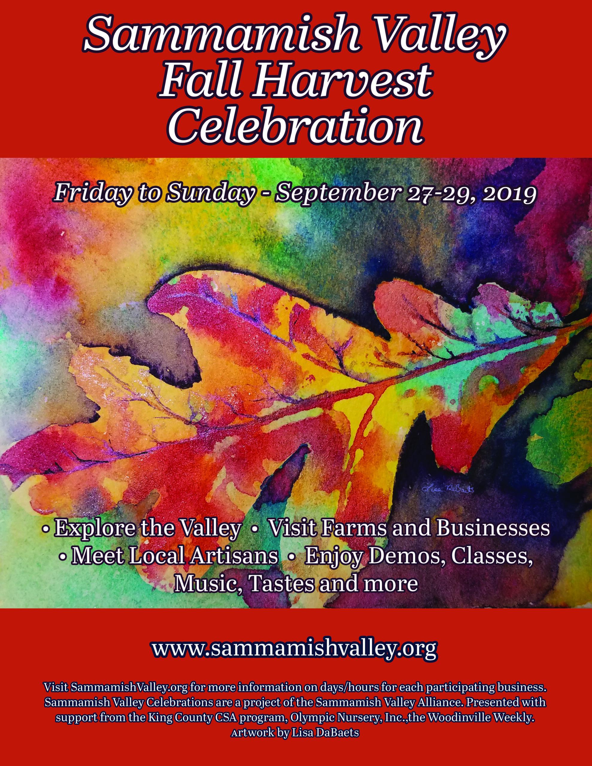 2019 Sammamish Valley Poster Fall